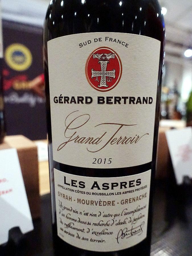 Gérard Bertrand Grand Terroir Les Aspres Syrah/Mourvèdre/Grenache 2015 (89 pts)