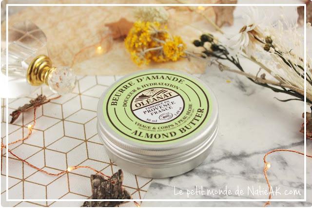 Beurre d'amande bio  pour peau sèche d'Oléanat pour peaux sèches