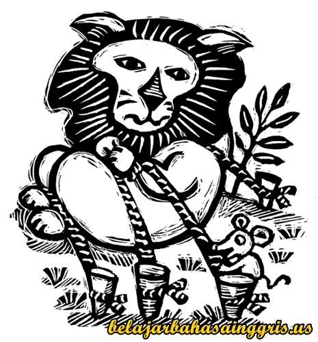 Cerita Fabel Bahasa Inggris Singa Dan Tikus Terjemahan