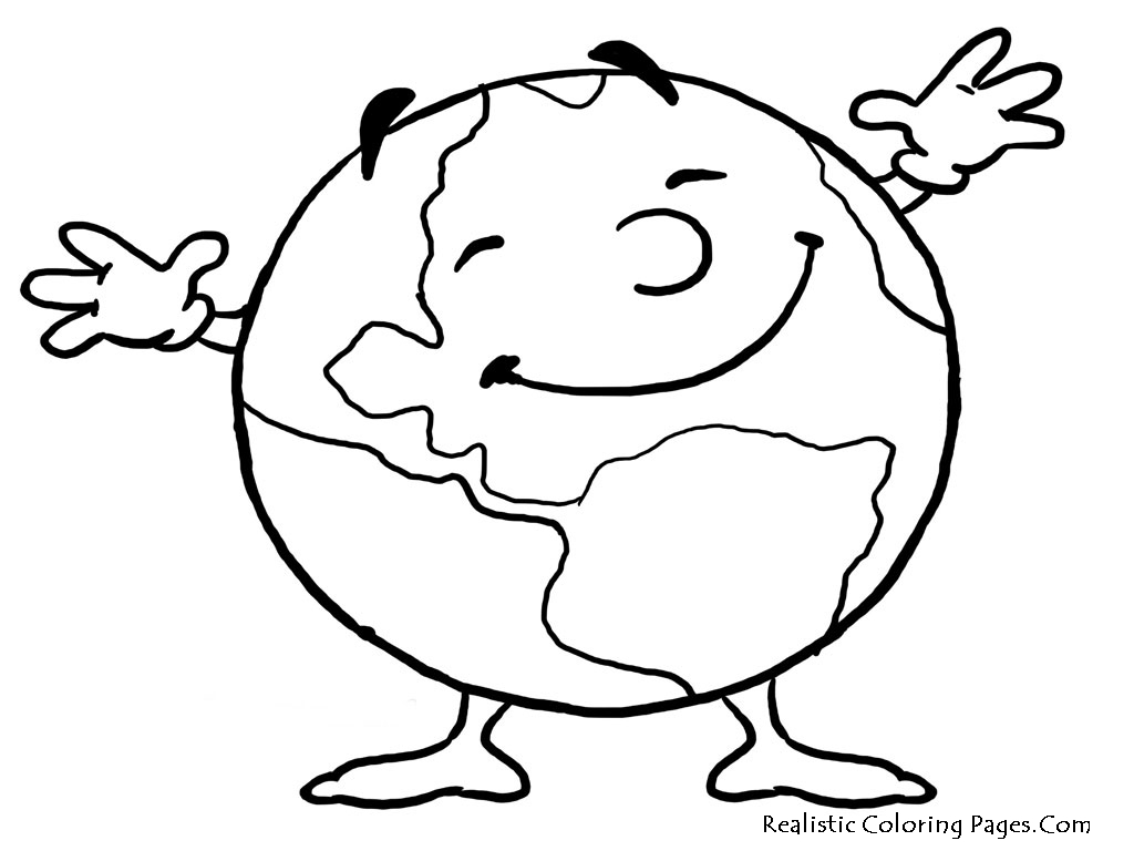 Earth day coloring pages realistic coloring pages for Coloring pages earth