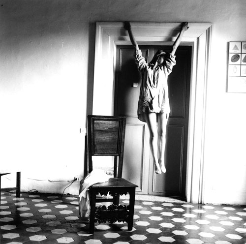 Francesca Woodman, Self-portrait, Rome, 1977–1978 From Angel Series