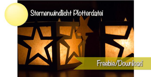 Windlicht Plotterdatei für Silhouette Cameo als Download Freebie