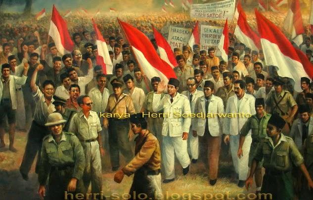 Bung Karno Rapat Raksasa Ikada lukisan Herri Soedjarwanto