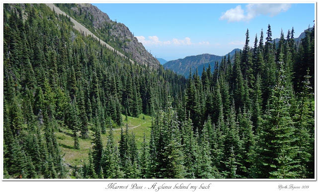 Marmot Pass: A glance behind my back