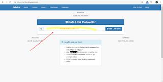 Cara membuat safelink sederhana di blogspot dan generator link