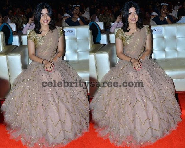Rashmika Mandanna Designer Half Saree