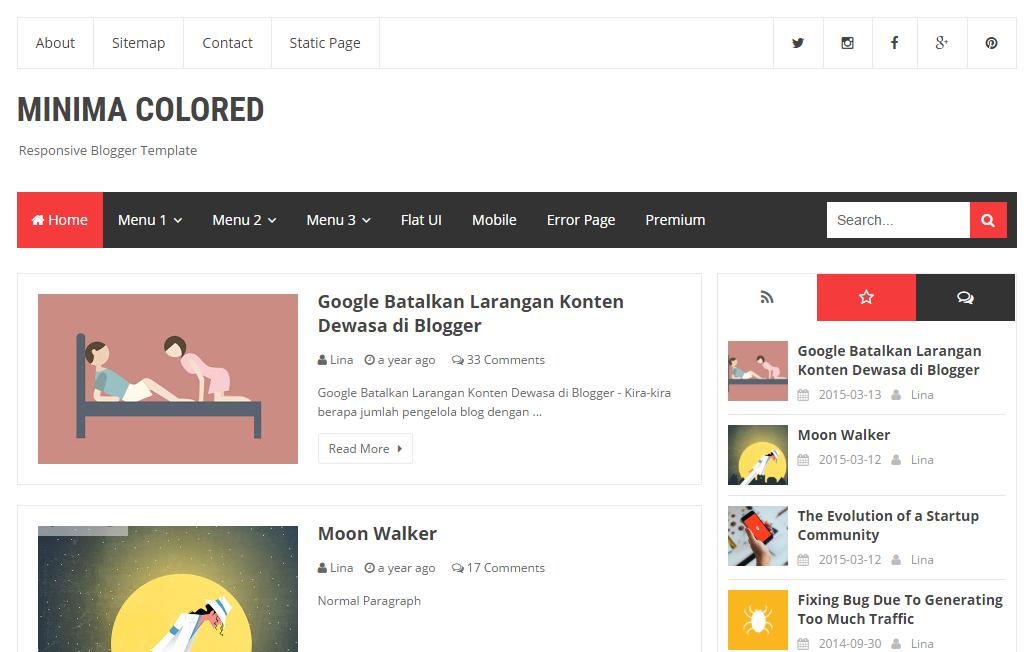Top 5 Seo friendly blogger template for blog - Hindi Me Gyaan