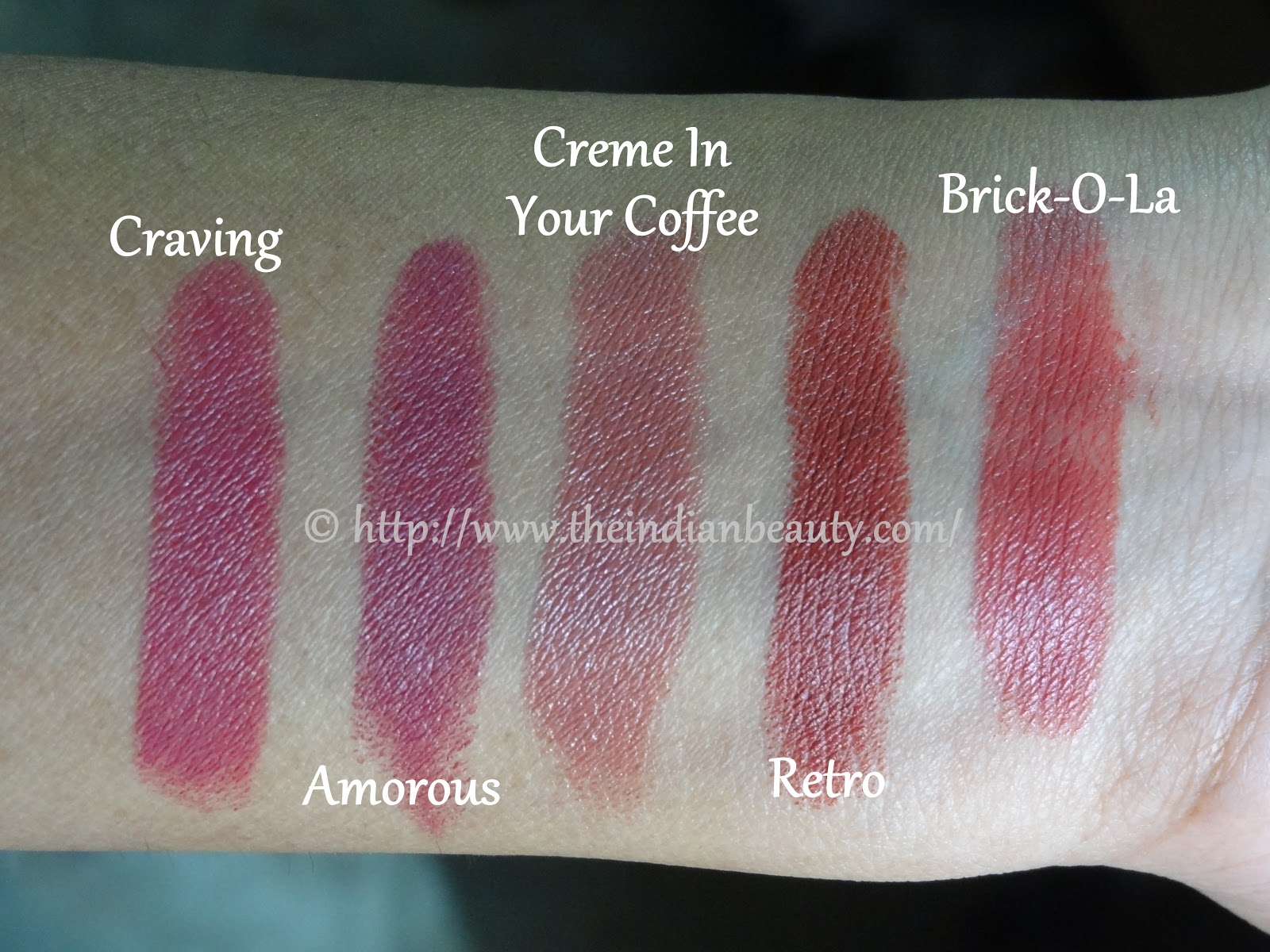 5 MAC lipsticks swatches and my recommendations for dusky
