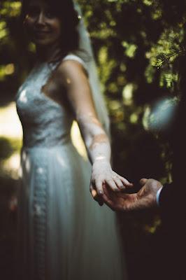 foto sposa bosco