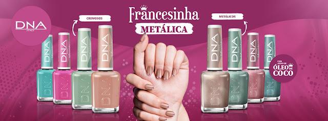 """Coleção """"Francesinha Metálica"""" da DNA ITALY"""