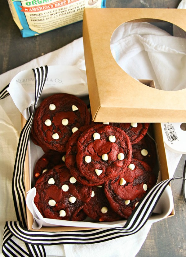 Red Velvet White Chocolate Chip Cookies from Kleinworth and Co.