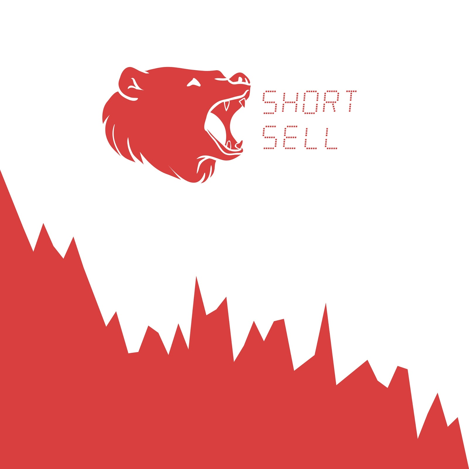 Bearish Trend with the words short sell