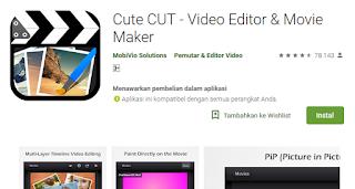 Cute CUT-Aplikasi Edit Video Terbaik untuk HP Android