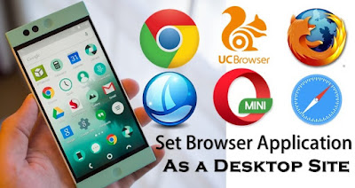 set smartphone browser application as desktop site