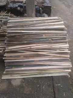 bambu yang sudah bersih