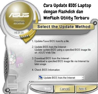 merupakan salah satu aktivitas yang tersinkronisasi eksklusif pada motherboard laptop Cara Update BIOS Laptop dengan Flashdisk dan WinFlash Utility