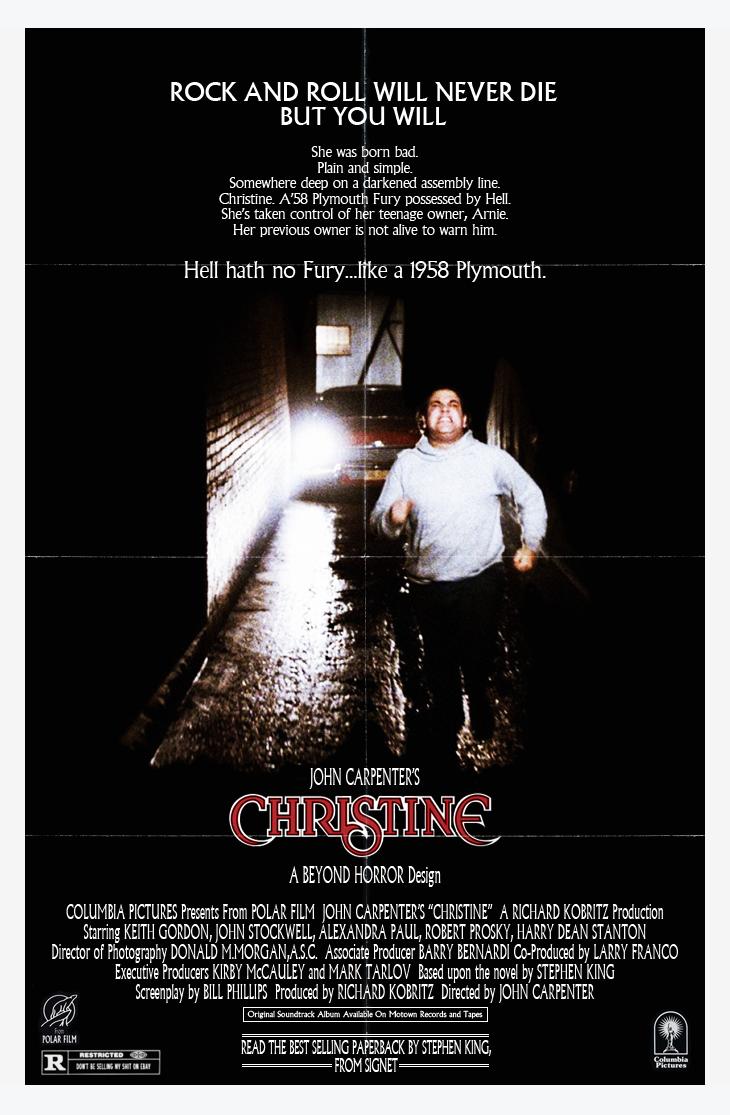 Christine (1983) – John Carpenter – The Mind Reels |Christine 1983 Poster Back