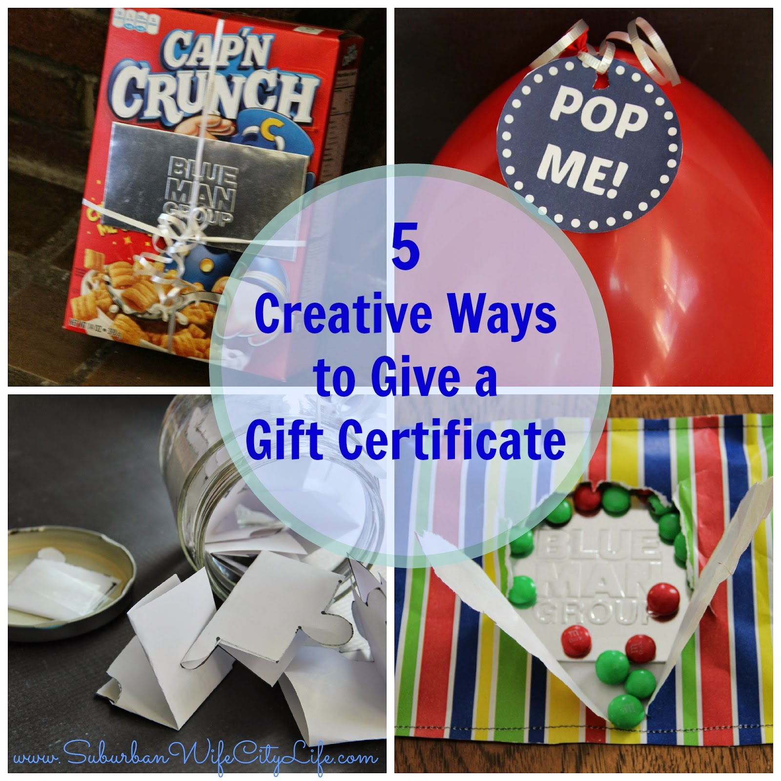 5 creative gift certificate giving ideas