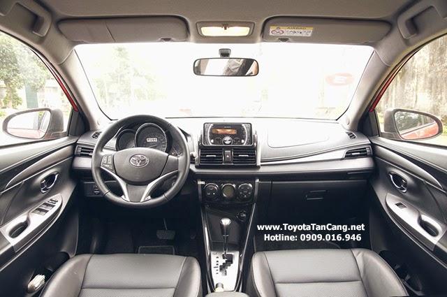 Toyota Vios 2015 được trang bị những tiện nghi tiêu chuẩn