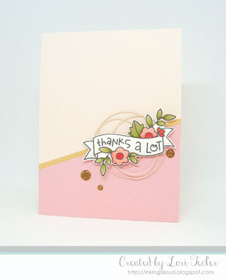 Thanks a Lot card-designed by Lori Tecler/Inking Aloud-stamps from Paper Smooches