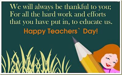 Happy Teachers day Wishes 2016