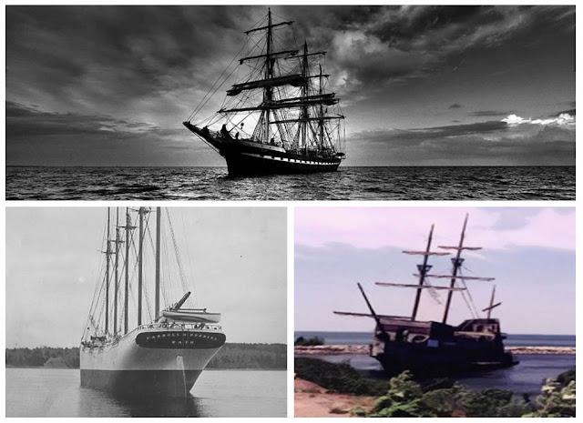 Quadro de Navios Fantasma, Bel Amica, Mary Celeste e Carroll A. Deering