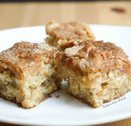 Apple Blondies #cake #dessert