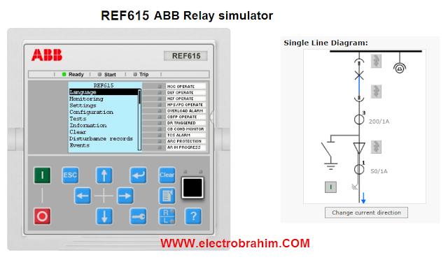 محاكات ريلي الحماية  REF615  ABB Relay simulator