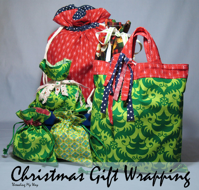 Reusable Christmas Gift Wrapping - from super simple to fully lined ~ Threading My Way
