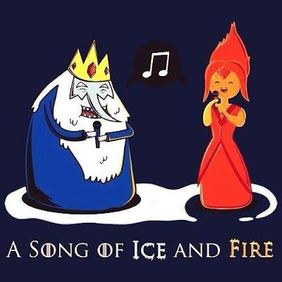 Meme de humor sobre los libros de Canción de Hielo y Fuego
