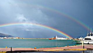 Χίος: Το διπλό ουράνιο τόξο μετά τον… Φοίβο