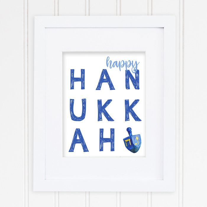 Free Hanukkah and Christmas Printables | Instant downloads of 8x10 holiday printables for your decor.
