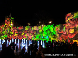Light show on Southampton walls
