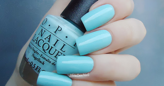 Silvia Lace Nails: OPI - Gelato On My Mind: swatches & review