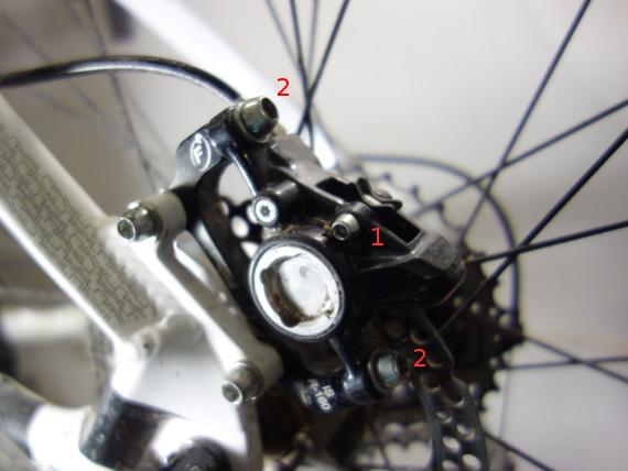 Pastillas de freno de disco de bici, sustitución