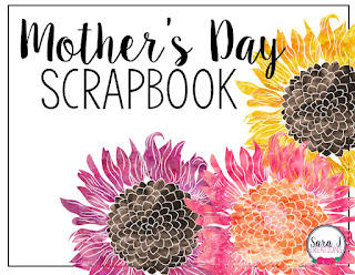 Cute Mother's Day Scrapbook FREEBIE.  Such a cute way to see each mother through their child's eye.