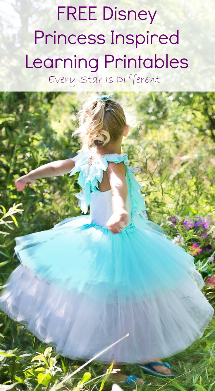 FREE Disney Princess Inspired Learning Printables - Every Star Is ...