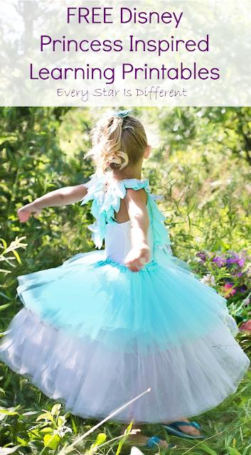 FREE Disney Princess Inspired Learning Printables