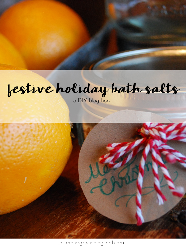DIY Festive Holiday Bath Salts - A Simpler Grace