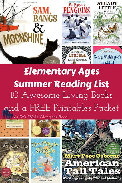Elementary summer booklist