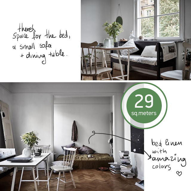 small apartment, 29 sq.m. • the round button blog