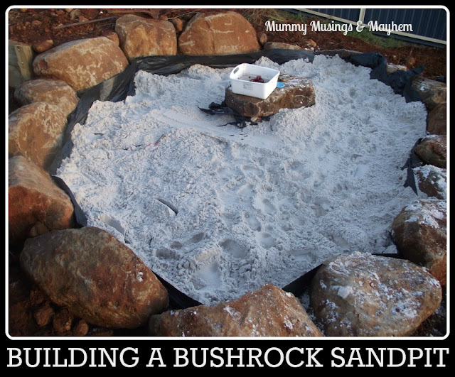 making a sandpit backyard