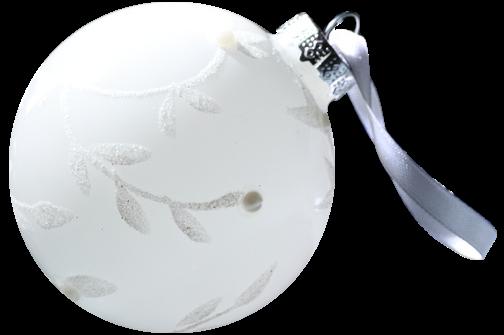 Bolas blancas para navidad