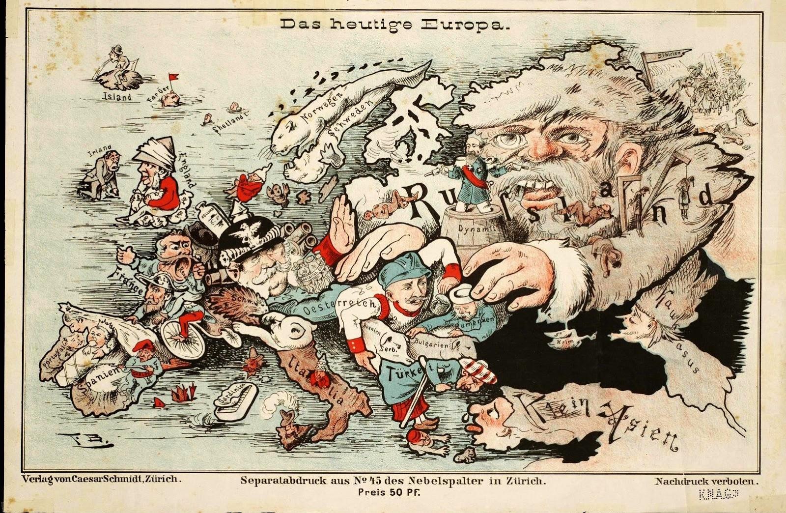 Today's Europe / Das heutige Europa, Zürich (1887)