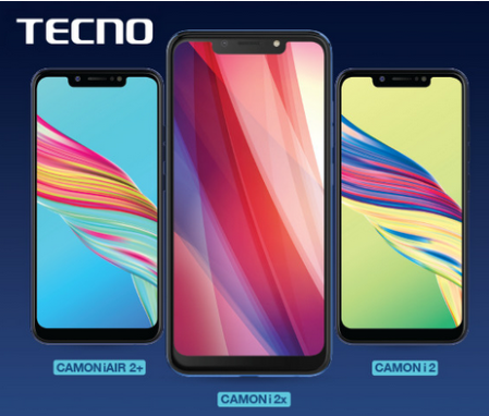 Tecno Camon i2X And i2 With Notch Display, Face Unlock, Al Enabled Camera