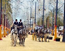 Disfrutaremos de los coches de caballos en la Feria de Jerez.