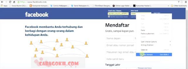 Mengintip Passtword FaceBook Orang Lain