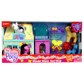 MLP Ribbon Wishes Building Playsets Wonder Waves Surf Shop G3 Pony