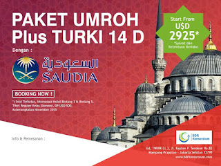 PAKET UMROH PLUS TURKI NOVEMBER 2017
