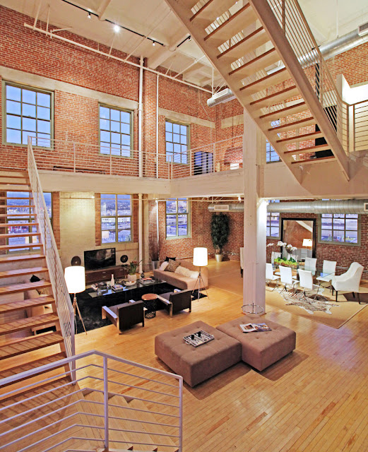 Photo of modern penthouse interiors in the loft